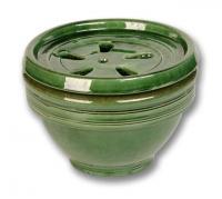 image de l'absorbeur d'humiditée  décoratif  en terre de couleur verte
